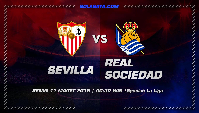 Prediksi Taruhan Bola Sevilla vs Real Sociedad 11 Maret 2019