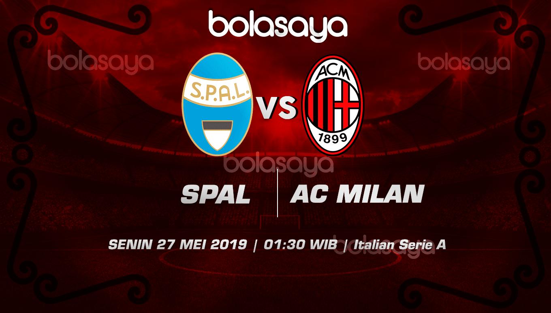 Prediksi Taruhan Bola Spal Vs AC Milan 27 Mei 2019