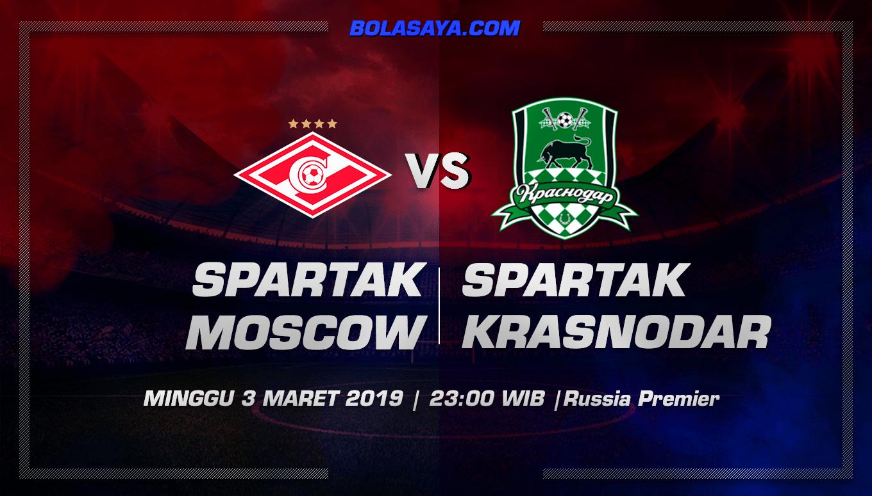 Prediksi Taruhan Bola Spartak Moscow vs Krasnodar 3 Maret 2019