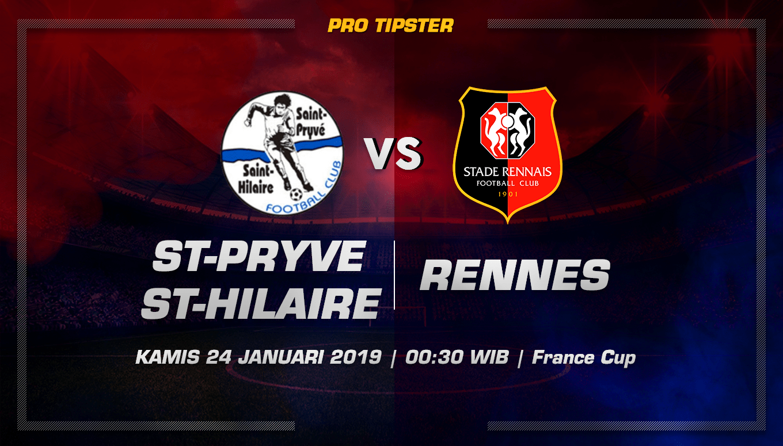 Prediksi Taruhan bola St-Pryve St-Hilaire vs Rennes 24 januari 2019