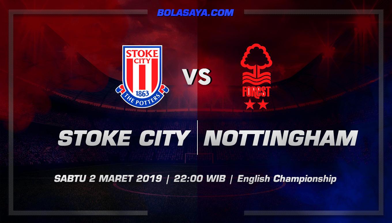 Prediksi Taruhan Bola Stoke City Vs Nottingham 2 Maret 2019