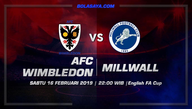 Prediksi Taruhan Bola Wimbledon vs Millwall 16 Februari 2019