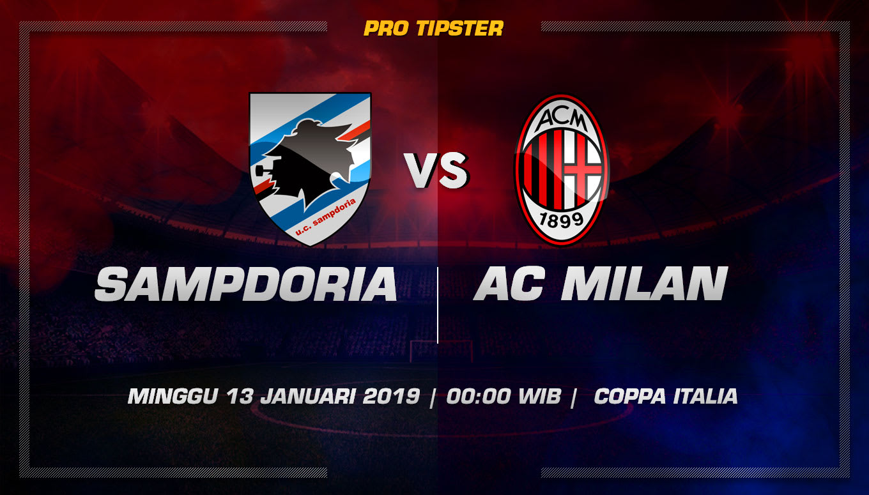 Prediksi Taruhan Bola Sampdoria vs AC Milan 13 Januari 2019
