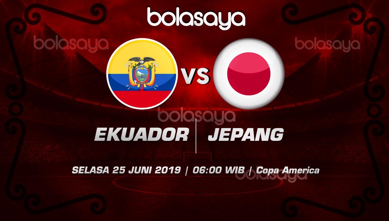 Prediksi Taruhan Bola Ecuador vs Japan selasa 25 Juni 2019