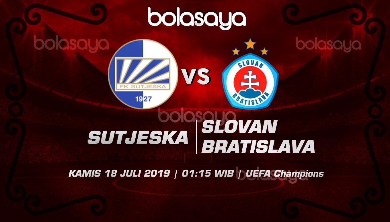 Prediksi Taruhan Bola Sutjeska Niksic vs Slovan Bratislava 18 Juli 2019