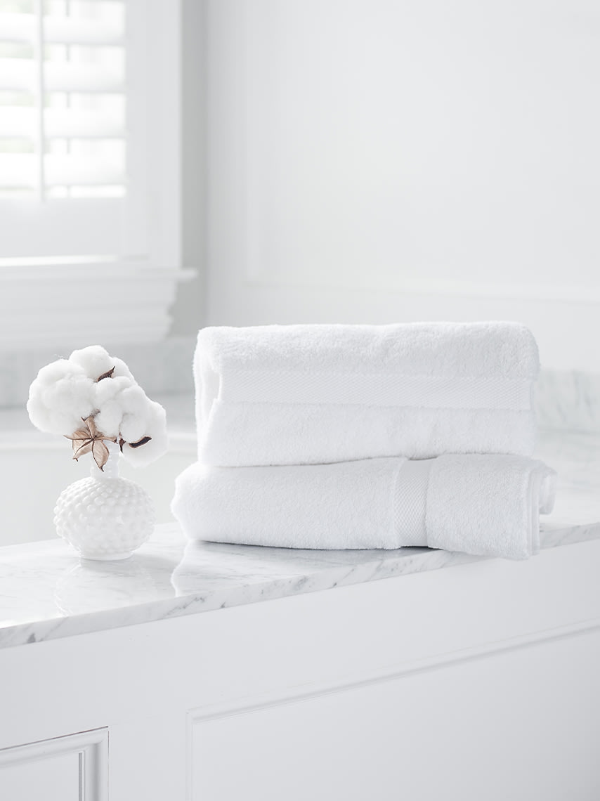 Boll & Branch luxurious bath towels.