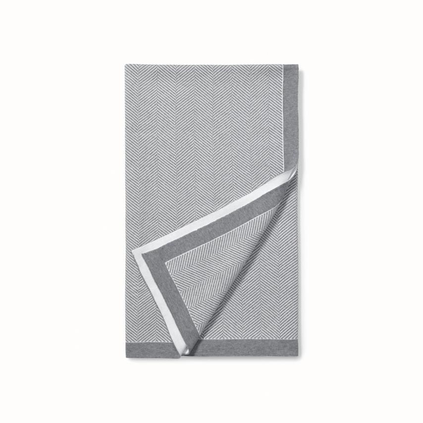 Herringbone Baby Blanket grey herringbone variant image
