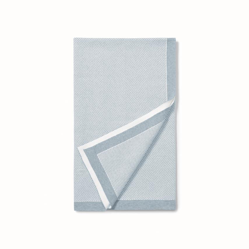 Herringbone Baby Blanket sky herringbone variant image
