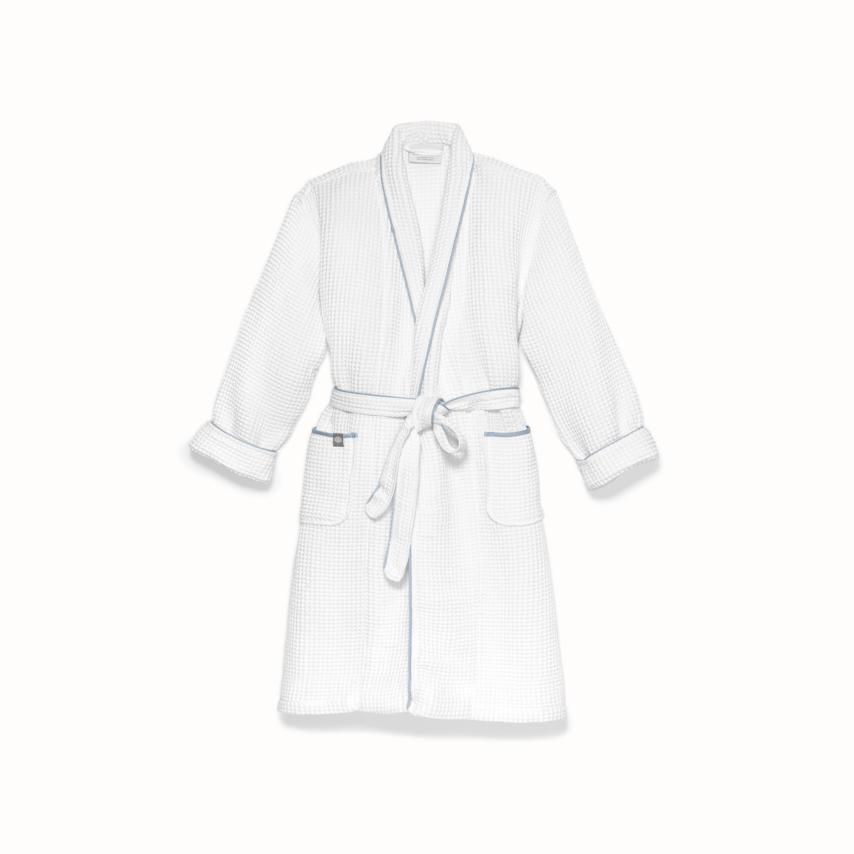 Women's Waffle Robe white/shore variant image