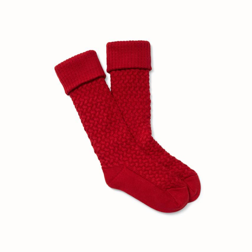 Chunky Knit Socks red variant image