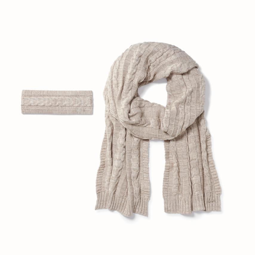 Cable Knit Headband & Scarf Set collection image