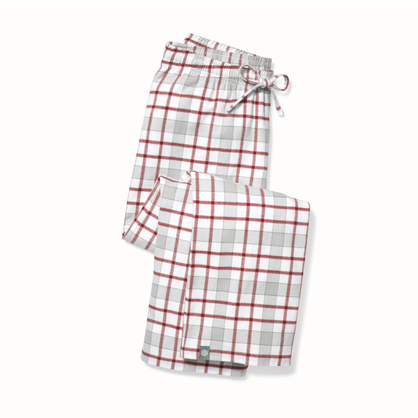 Women's Flannel Pajama Pants red holiday plaid variant image