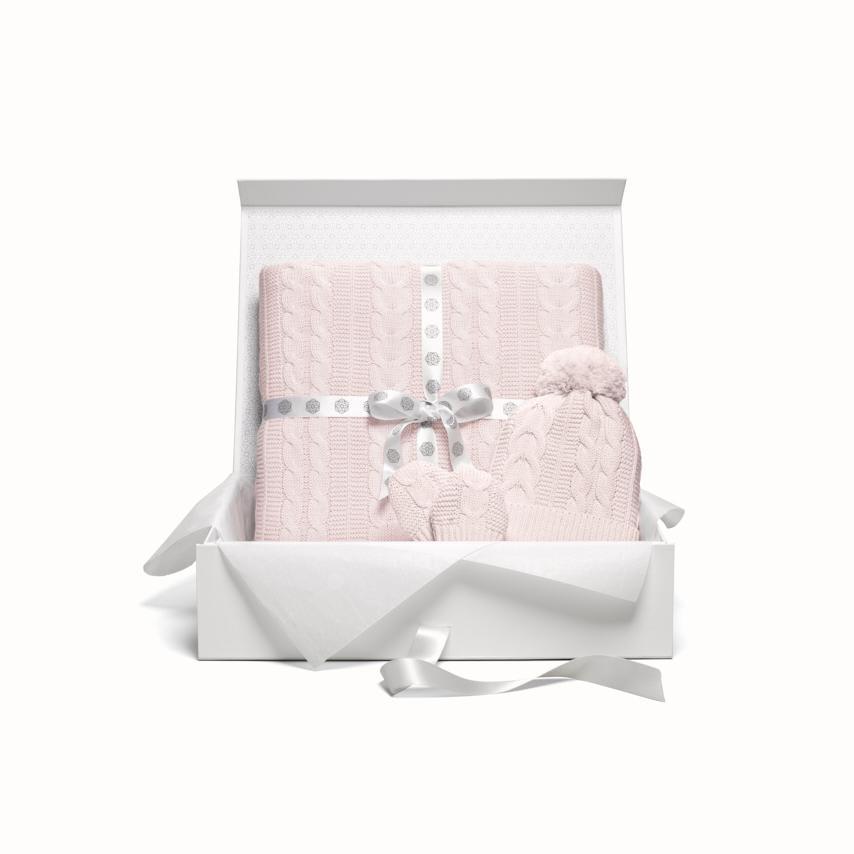 Cable Knit Stroller Set petal variant image