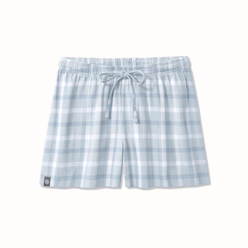 Women's Flannel Pajama Shorts shore modern plaid variant image