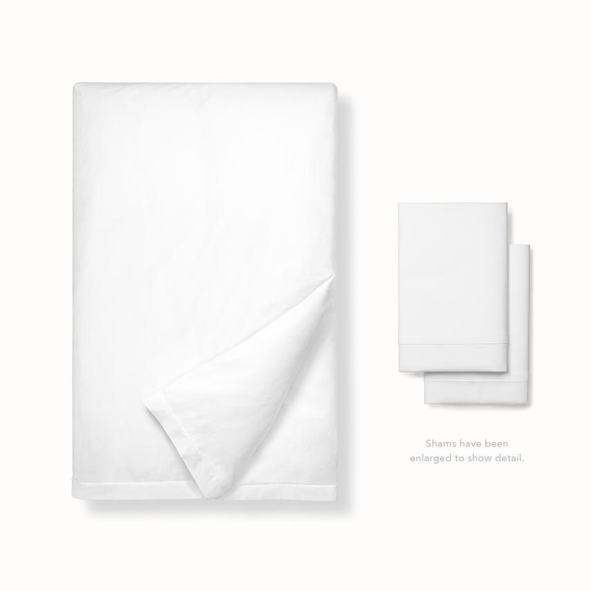 Classic Hemmed Duvet Set white variant image