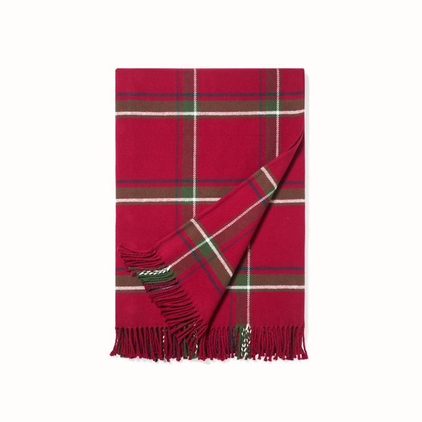 Plaid Oversized Throw Blanket red tartan variant image