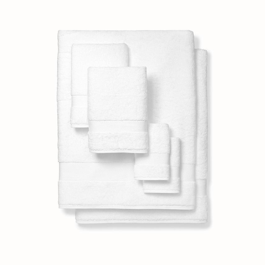 Plush Bath Sheet Set white variant image
