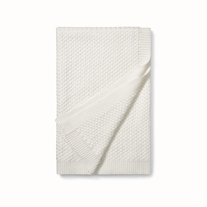 Chunky Knit Throw Blanket birch white variant image