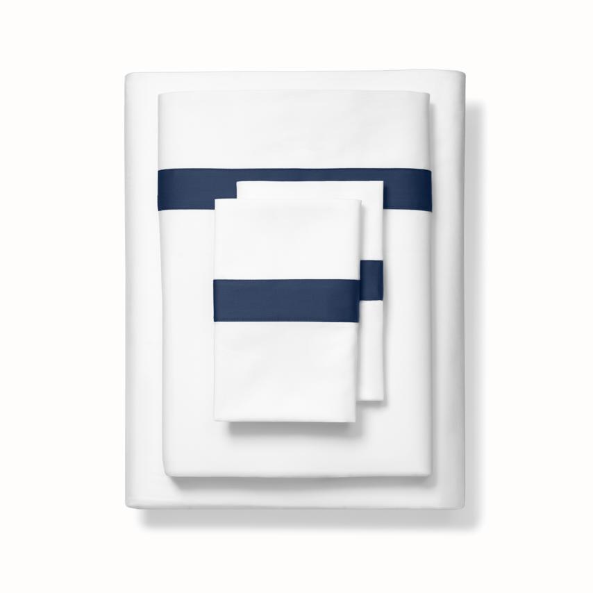 Banded Sheet Set white/navy variant image