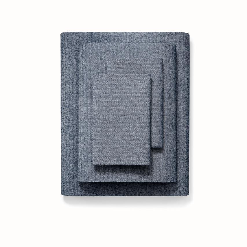 Flannel Sheet Set navy herringbone variant image