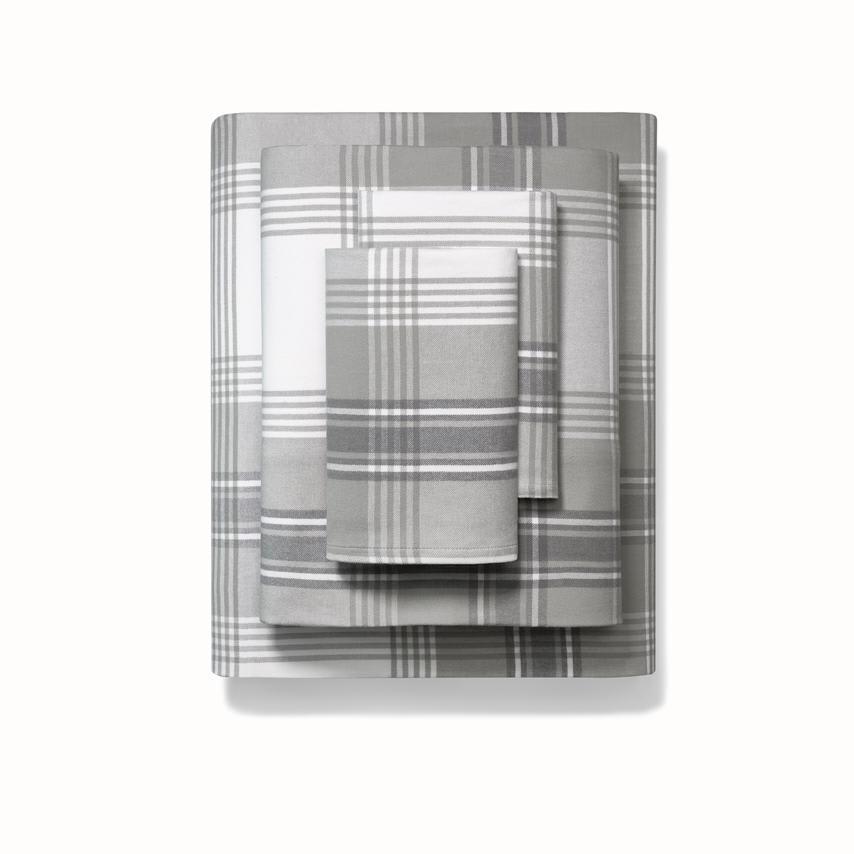 Flannel Sheet Set pewter signature plaid variant image