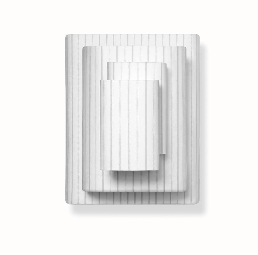 Flannel Sheet Set pewter ticking stripe variant image