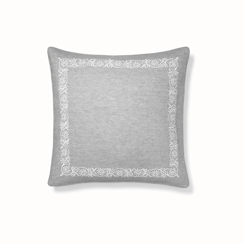 Vine Decorative Pillow Cover pewter/white vine variant image