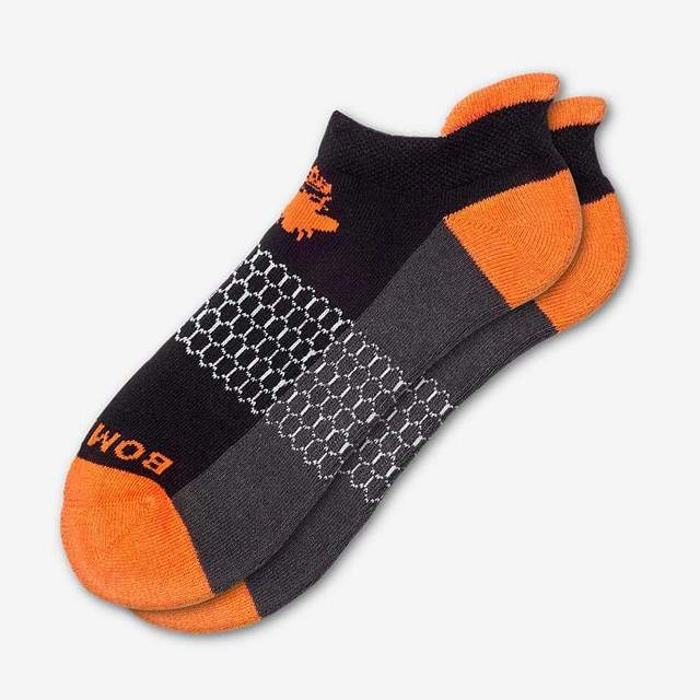 black-and-blaze-orange Women's Originals Ankle Socks
