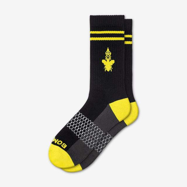 black-and-canary-yellow Men's Originals Calf Socks