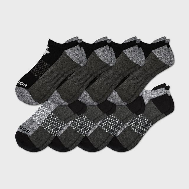 black-and-charcoal Men's Ankle Sock 8-Pack