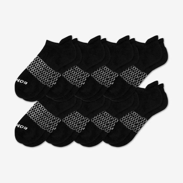 black Men's Ankle Sock 8-Pack