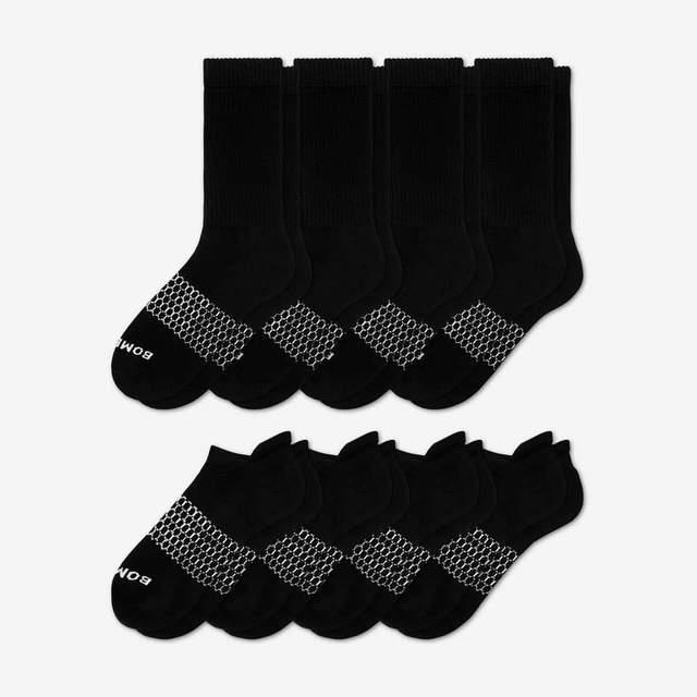 black Women's Calf & Ankle Sock 8-Pack
