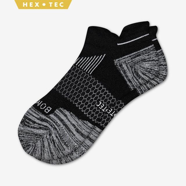 black Men's Performance Running Ankle Socks