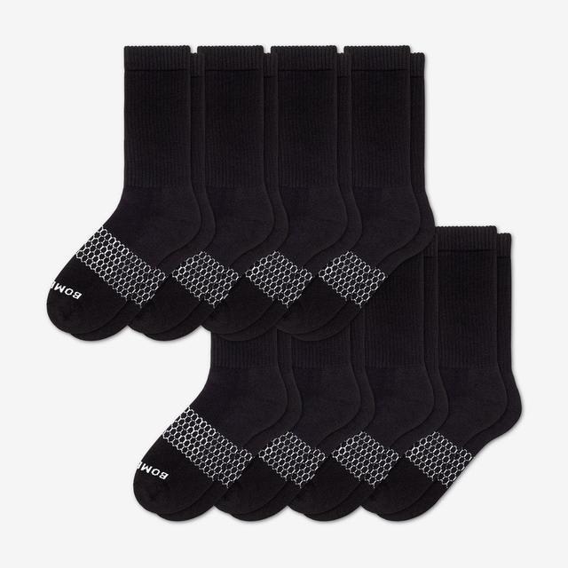 black Women's Calf Sock 8-Pack