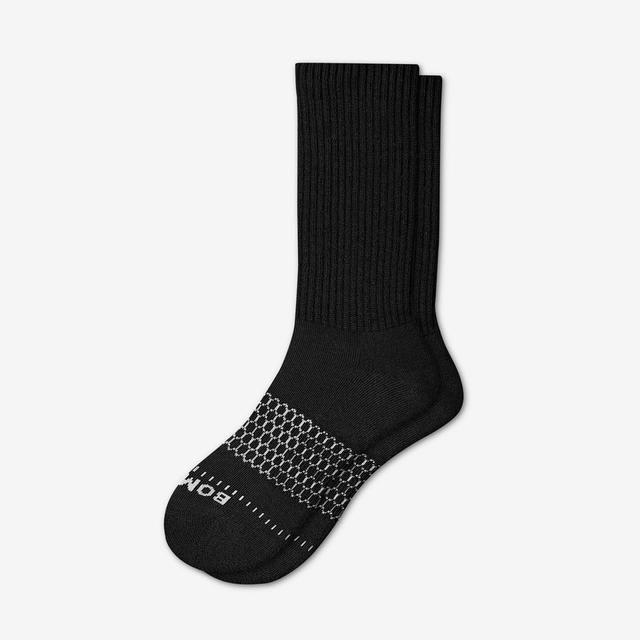 black Men's Wide Calf Socks