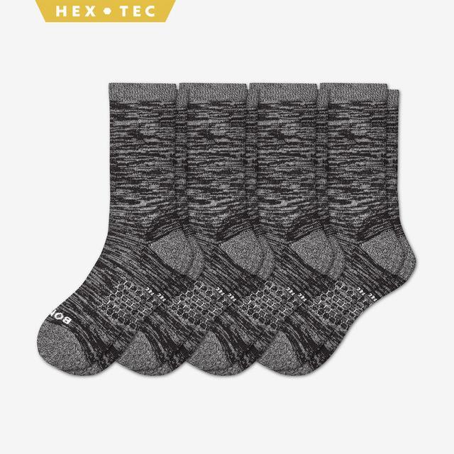 black Men's Hiking Calf Sock 4-Pack