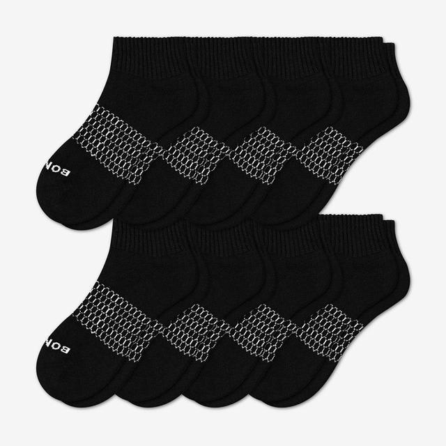 black Women's Quarter Sock 8-Pack
