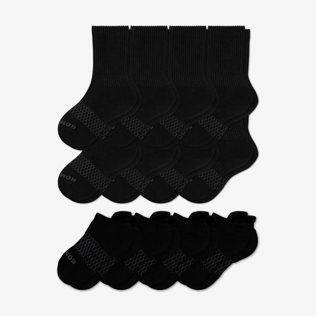 black Youth Calf & Ankle 12-Pack