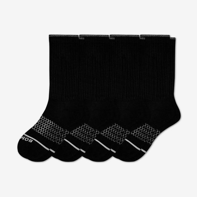 black Men's Merino Wool Calf Sock 4-Pack