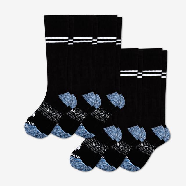 black Men's Compression Sock 6-Pack