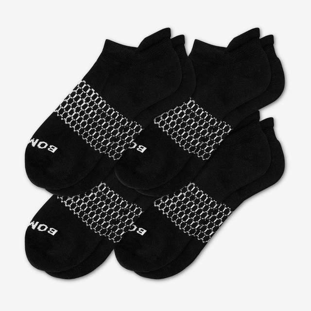 black Men's Solids Ankle 4-Pack
