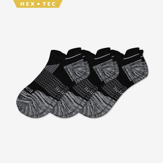 black Women's Performance Running Ankle Sock 3-Pack