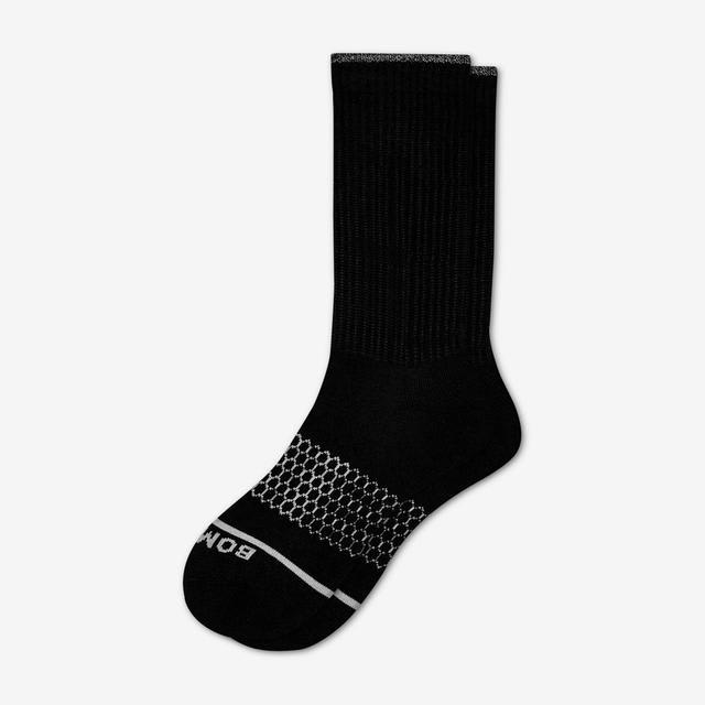 black Men's Merino Wool Calf Socks