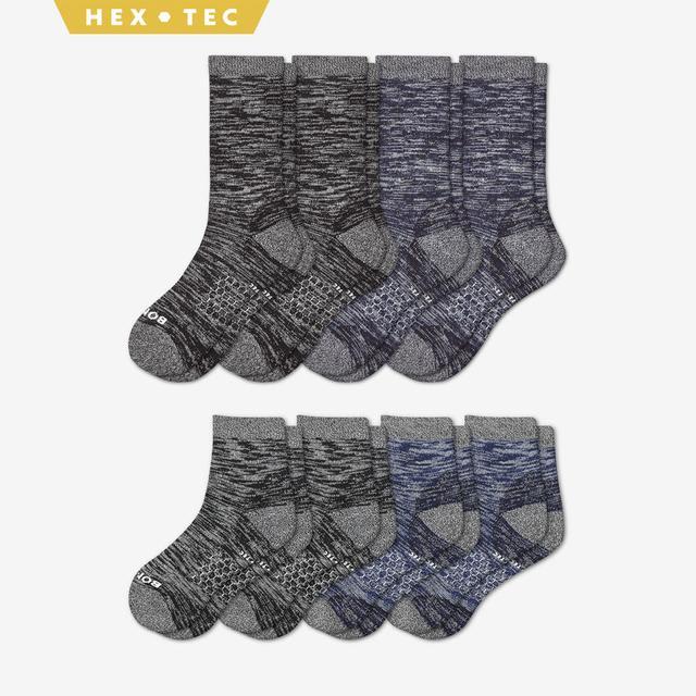 black-navy Women's Hiking Calf & Quarter Sock 8-Pack