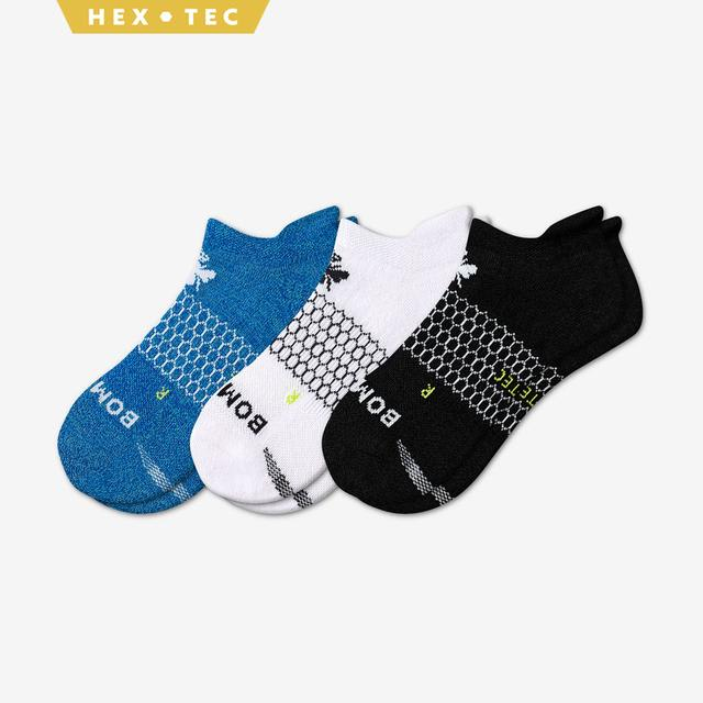 black-white-blue Women's All-Purpose Performance Ankle Sock 3-Pack
