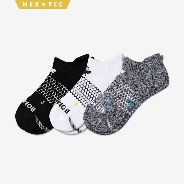 black-white-charcoal Women's All-Purpose Performance Ankle Sock 3-Pack