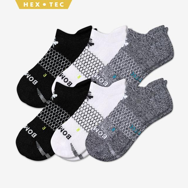 black-white-charcoal Men's All-Purpose Performance Ankle Sock 6-Pack