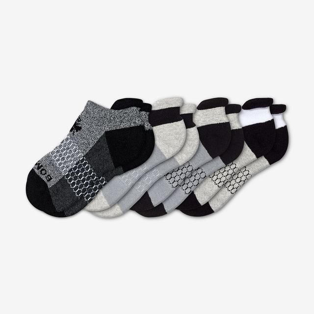 black-white Youth Originals Ankle Sock 4-Pack