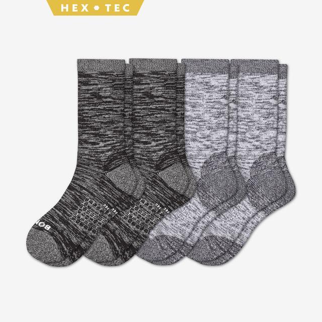 black-white Men's Hiking Sock Calf 4-Pack