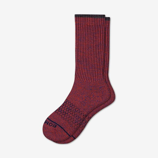 blood-orange-astral-blue Women's Merino Wool Calf Socks